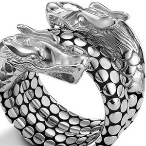 John Hardy Naga Double Dragon Dot Coil Ring